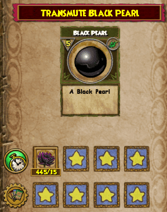 The Black Pearl Transmute Recipe is available from Toshio in Mooshu – Jade Palace. Selling for 400 gold. You will need 15 Black Lotus.