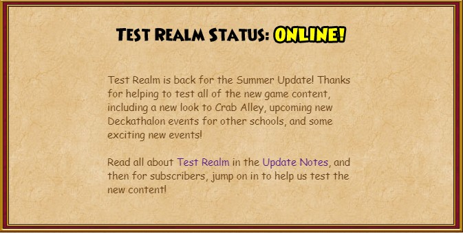 Test Realm is Here! | Ravenwood Academy